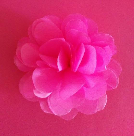 Flores De Papel Seda Color 12cm Por 100 Unidades Con Gancho