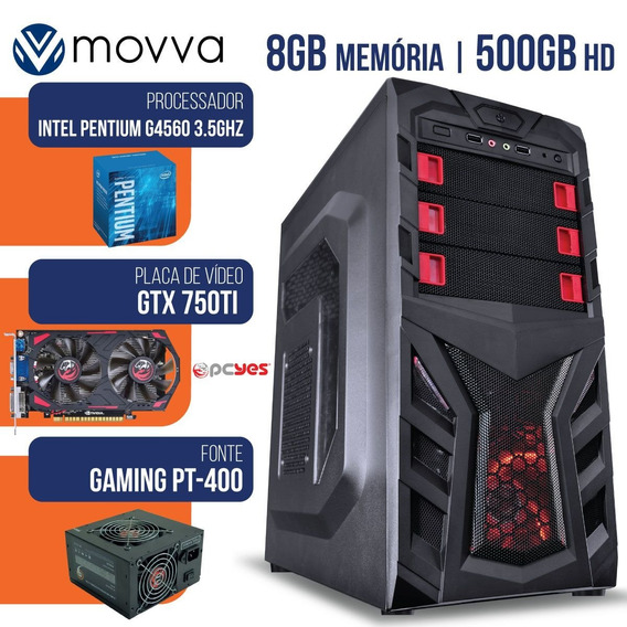 Computador Intel Pentium G4560 3.5ghz 8gb Hd 500gb Gt730 4g