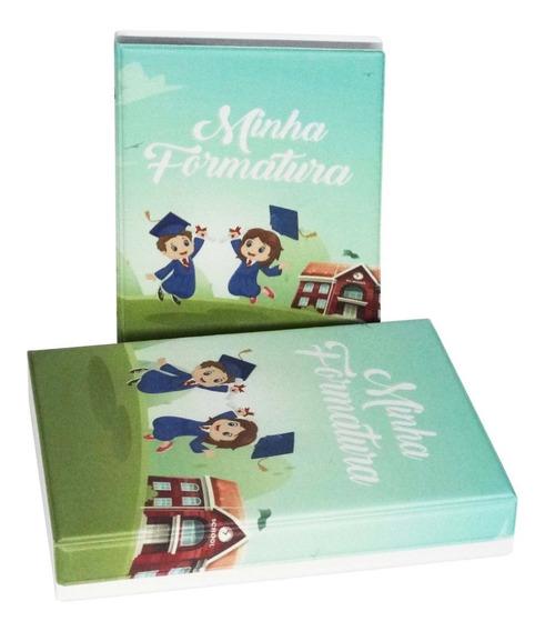 Álbum 15x21 Maleta Com Aba Para 40 Formatura Infantil Fotos