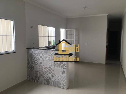 Casa Com 2 Dormitórios À Venda, 59 M² Por R$ 208.650 - Jardim Ouro Branco - Ribeirão Preto/sp - Ca0614