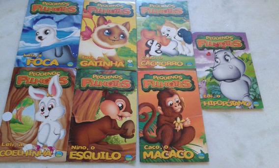 Lote Com 07 Livros Infantis Pequenos Filhotes