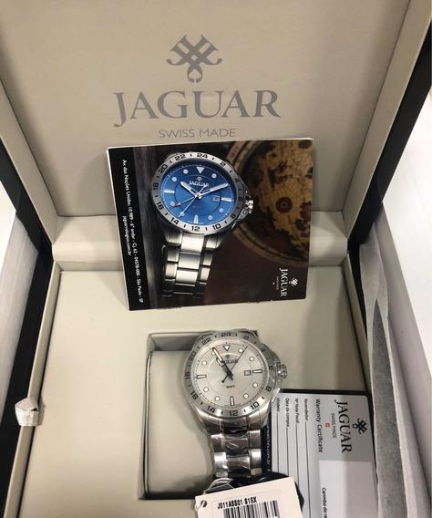 Relógio Masculino Jaguar Gmt J011ass01 S1sx Aço
