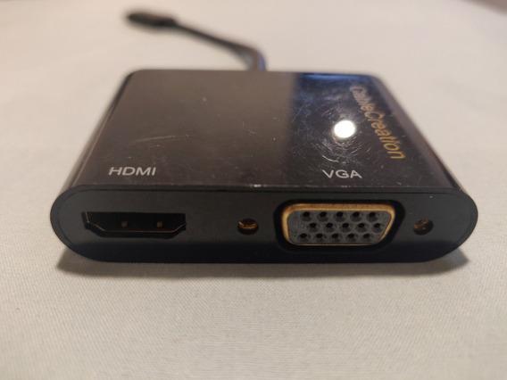 Convertidor Adaptador Usb Tipo C A Hdmi + Vga Para Macbook