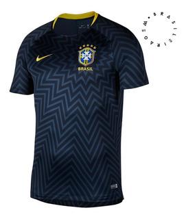 Camisa Nike Pré Jogo Brasil Masculina 893353 Original + Nf
