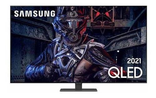 Imagem 1 de 9 de Smart Tv 4k Samsung Qled 55  Com Modo Game, Alexa - 55q80aa
