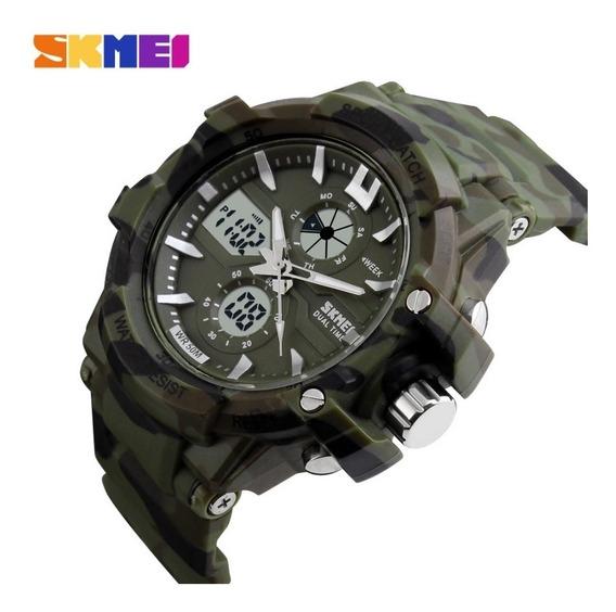 Relógio Camuflado Masculino Militar Skmei Digital Analogico