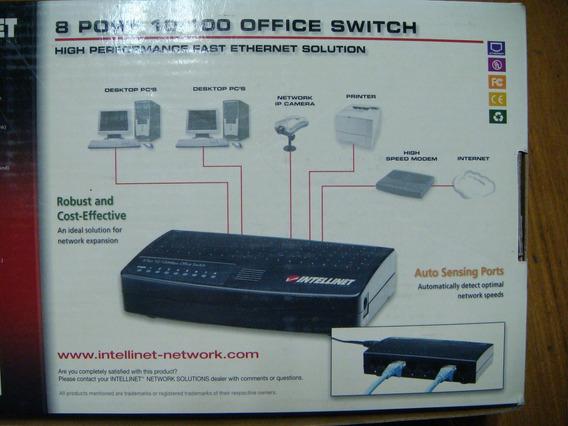 Switch Intellinet 8 Puertos Caja Y Trafo
