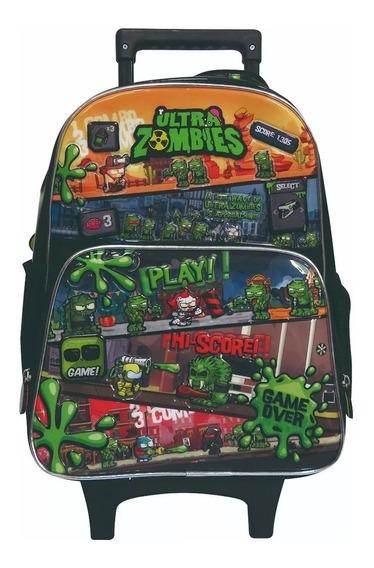 Mochila Ultra Zombies Carro Infantil 16 Om238