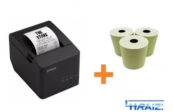 Impressora Termica Epson Tm-t20x Guilh Usb Ifood + 3 Bobina