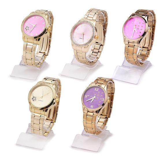 Kit 10 Relógios Feminino Modelos Em Aço Atacado E Revenda