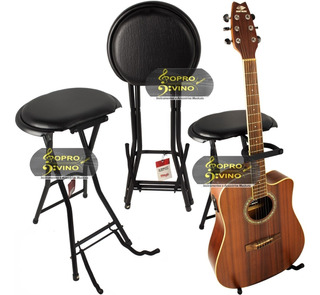 Banco Com Trava E Suporte Violão Guitarra Stagg Gist350
