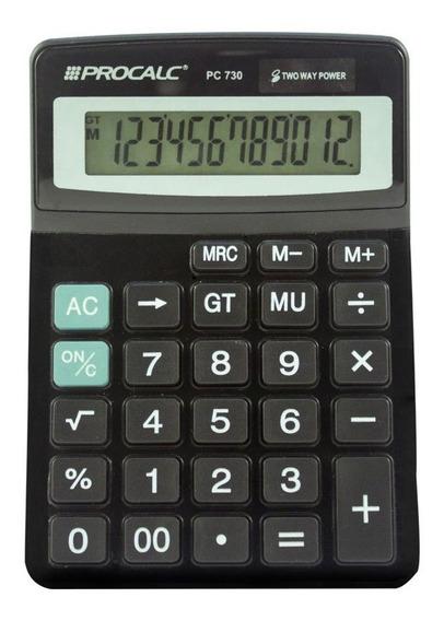 Calculadora De Mesa Procalc Pc730 12 Dígitos