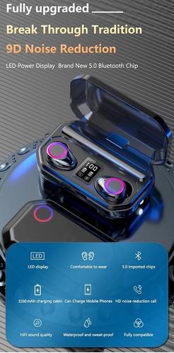 Imagem 1 de 8 de Fio Fones De Ouvido 3500mah Sem Fio Controle  Bluetooth 5.0
