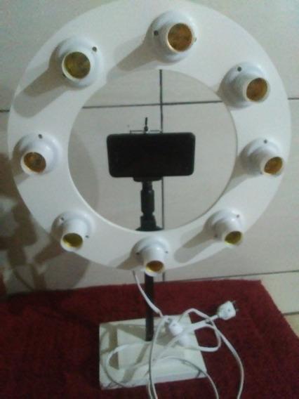 Ring Lighit 8 Soquetes De Bancada Branco 40cm