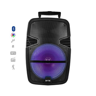 Bafle Amplificado Bluetooth Recargable Led Multicolor 15 Pu
