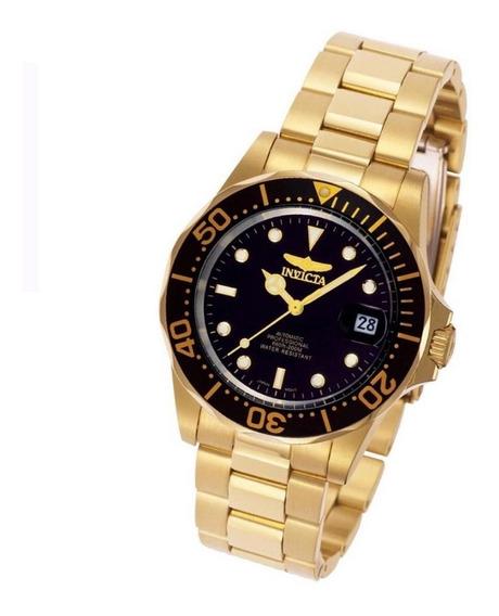 Relógio Invicta Pro Diver Automático 8929 B. Ouro 18k