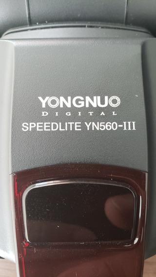 Flash Yongnuo Yn560 Iii Universal Para Canon Nikon E Sony