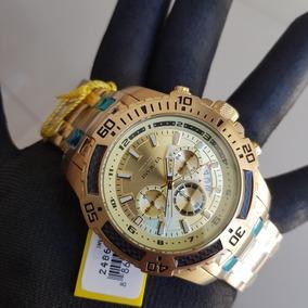 Relógio Pro Diver 24860 Lançamento Original Banho Ouro 18k