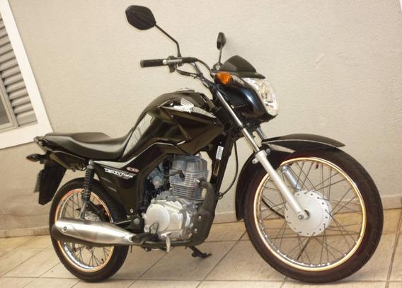 Honda Cg 125 Fan Es 2014 Preta Cod:.1011