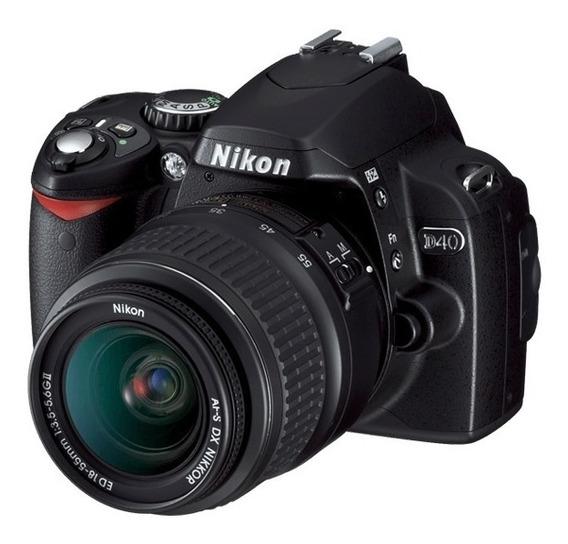 Camera Nikon D40 Profissional Dslr + Lente Nikkor Af-s