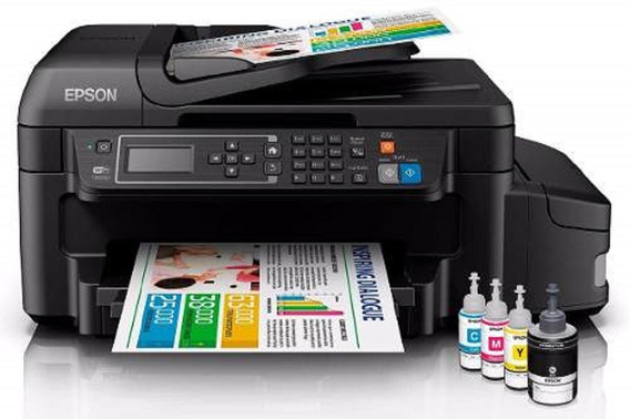 Impresora Multifuncional Epson L575 Red Wifi Fax Tinta Conti