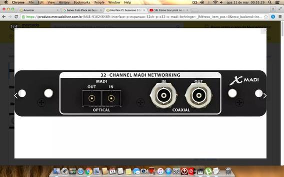 Interface P/ Expansao 32ch P/ X32 - X Madi Behringer