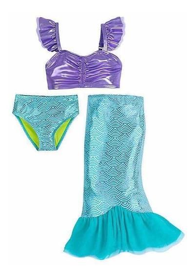 Traje De Baño Princesa Ariel Sirenita P/niña Disney Store