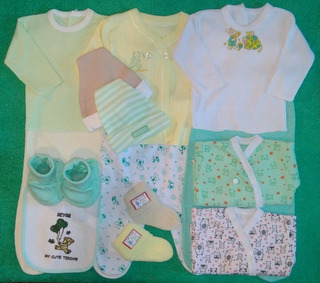Ajuar De Bebe Recién Nacido - 14 Piezas - Envió Gratis