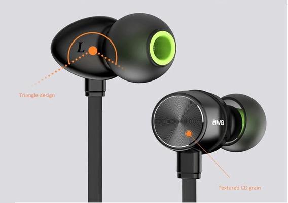 Awei Wt30 Fone Bluetooth Esportivo Grande Fixação