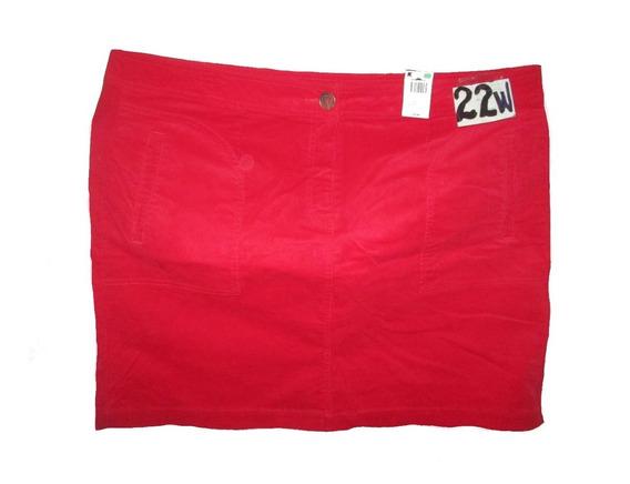 Falda Roja De Pana Spandex Talla 20/22w ( 40/42 Mex) Lyz