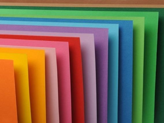 Cartulina Escolar 45x60 X 100 Unidades Colores A Elección