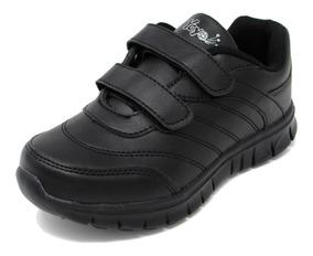 Zapatos Dep. Escolares Yoyo 16367v Negros 32-39 Envío Gratis