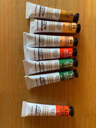 Imagem 1 de 3 de Kit 6 Tintas Óleo Corfix  20 Ml Vencidas Promoção
