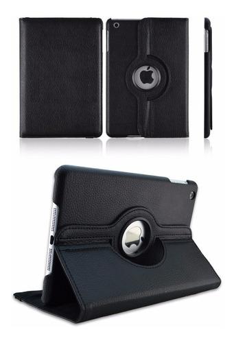 Capa Em Couro 360º Para Apple iPad Air 2, Air 1 Ou New iPad