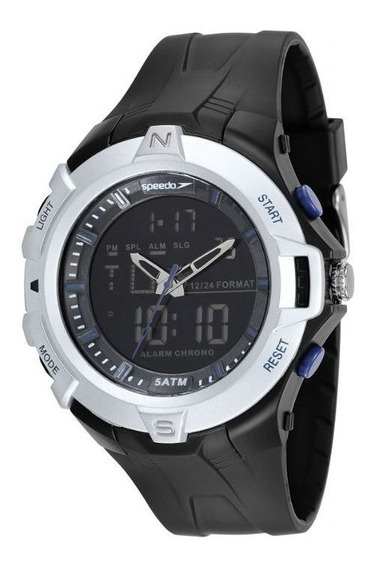 Relógio Speedo Pulso Feixo Pu Masculino Adulto 81136g0evpn4