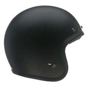 Capacete Moto Bell Custom 500 Solid Fosco Preto