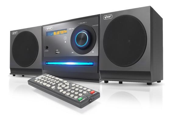 Mini System Bluetooth Caixa De Som Knup Dvd Cd Player Usb Fm