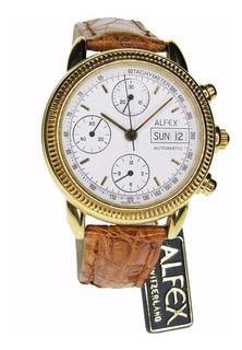 Reloj Alfex Chrono Tachymeter - Mecanismo A La Vista