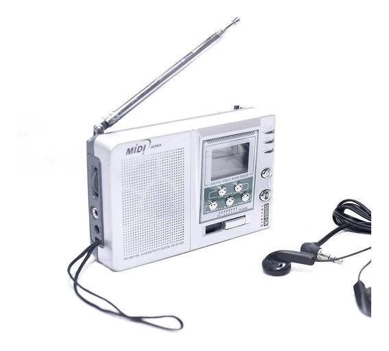 Radio Portatil Digital Am/fm Midi Md-9900d