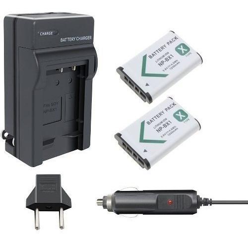 2 Baterias Carregador P/ Sony Fdr-x1000 X3000 Action Camera