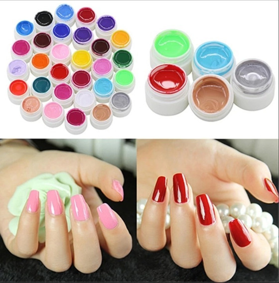 Gel Paint Uv Led Color X 12 Unidades Sin Glitter Uñas