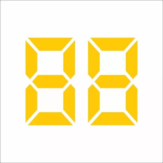100 Adesivos Colante Vidro Ano Veículo Lojas Concessionárias