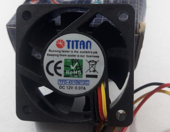Fan Titan 40mmx40mm 12v 10mmalto 3 Pines