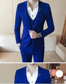 Terno Masculino Azul Royal