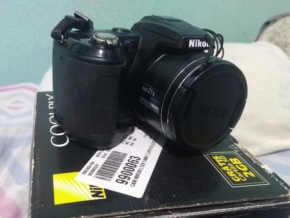 Câmera Semi Profissional Nikon Coolpix L120 14 Mp C/ Defeito