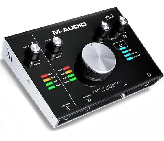 Placa Interface De Áudio M-audio M-track 2x2m Usb Mtrack2x2
