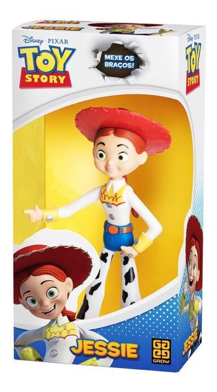 Boneca Jessie Vaqueira Toy Story 15 Cm Articulado - Grow