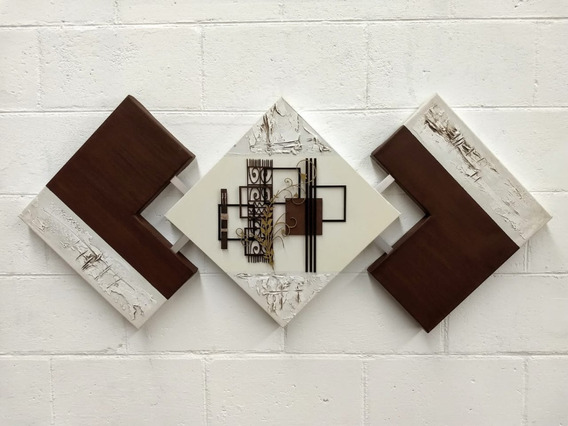 Quadros Abstratos Sala Quarto Sala De Jantar - Bico M 60x125