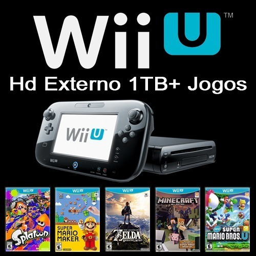 Nintendo Wii U + 126 Jogos Wiiu + Hd 1tb + Sem Juros
