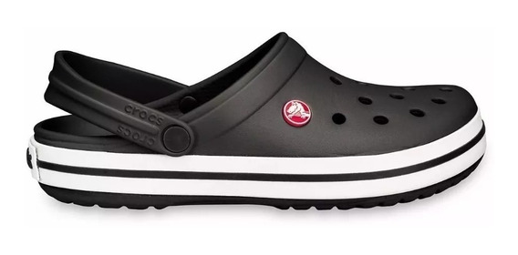 Crocs Crocband Originales Black White Negra